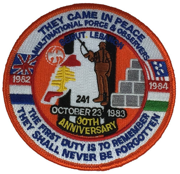 THEY CAME IN PEACE BEIRUT LEBANON 30TH ANNIVERSARY PATCH