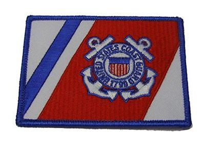 USCG COAST GUARD 1790 RACING STRIPE FLAG PATCH SEMPER PARATUS COASTIE VETERAN