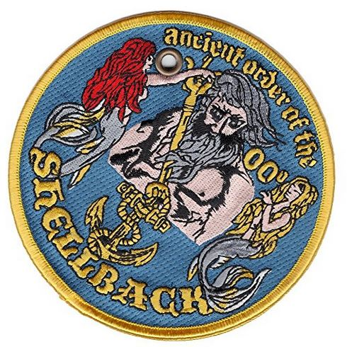 Ancient Order of the Shellback Double-Sided Patch Ornament - HATNPATCH
