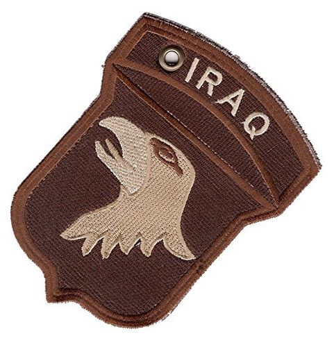 101ST AIRBORNE DIV IRAQ CAMPAIGN Double-Sided Patch Ornament - HATNPATCH