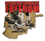 OPERATION ENDURING FREEDOM LARGE BACK PATCH OEF AFGHANISTAN VETERAN