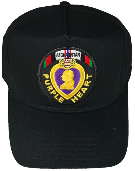 PURPLE HEART AFGHANISTAN VETERAN HAT - HATNPATCH