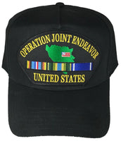 OPERATION JOINT ENDEAVOR W/ SERVICE RIBBONS HAT