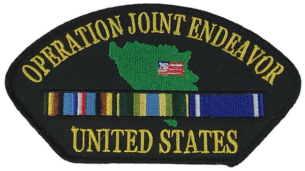 OPERATION JOINT ENDEAVOR W/ SERVICE RIBBONS PATCH - HATNPATCH