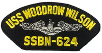 USS Woodrow Wilson SSBN-624 Ship Patch - Great Color - Veteran Owned Business