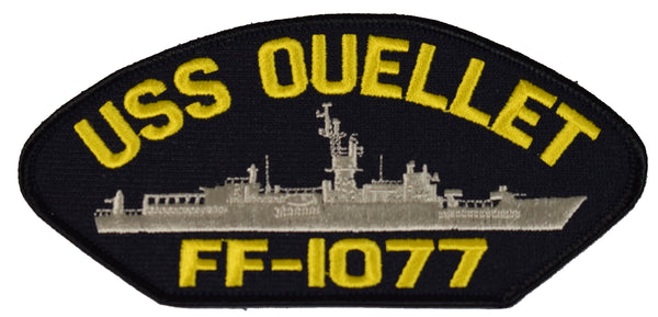 USS OUELLET FF-1077 SHIP PATCH - GREAT COLOR - Veteran Owned Business