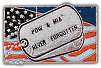 POW NEVER FORGOTTEN HAT PIN