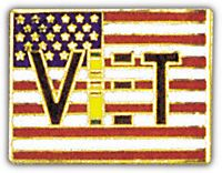 VIET VET FLAG HAT PIN - HATNPATCH
