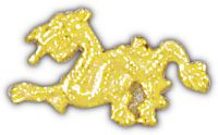 ASIAN DRAGON HAT PIN - HATNPATCH