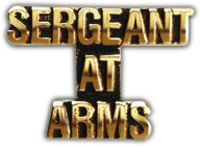 SERGEANT AT ARMS HAT PIN