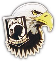 POW EAGLE TEAR HAT PIN - HATNPATCH