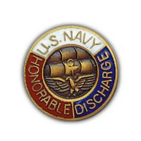 USN HONORABLE DISCHARGE HAT PIN - HATNPATCH