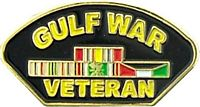 GULF WAR VETERAN HAT PIN - HATNPATCH