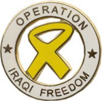 OPERATION IRAQI FREEDOM YL RIB HAT PIN - HATNPATCH