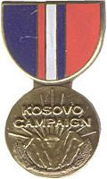 KOSOVO CAMPAIGN HAT PIN - HATNPATCH
