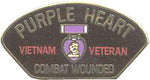 VIETNAM PURPLE HEART COMBAT WOUNDED HAT PIN