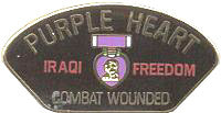IRAQI FREEDOM PURPLE HEART COMBAT WOUNDED HAT PIN - HATNPATCH
