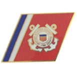 USCG RACING STRIPES HAT PIN