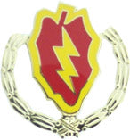 25TH INFANTRY WREATH HAT PIN