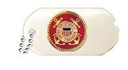US COAST GUARD DOG TAG HAT PIN - HATNPATCH