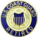 USCG RETIRED HAT PIN