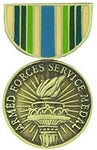ARMED FORCES VOL SERV MEDAL HAT PIN