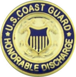 USCG HONORABLE DISCHARGE HAT PIN