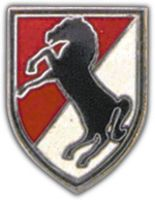 11TH ACR - BLACK HORSE HAT PIN
