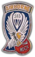 503RD AIRBORNE INF RGT HAT PIN - HATNPATCH