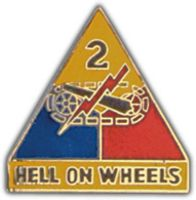 2ND ARMORED DIV HAT PIN