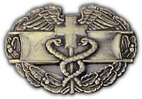 COMBAT MEDIC BADGE HAT PIN