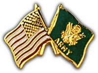 USA / ARMY FLAGS HAT PIN - HATNPATCH