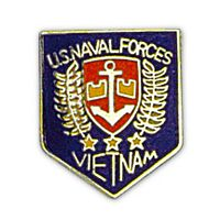 US NAVAL FORCES - VIETNAM HAT PIN