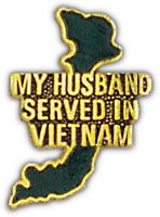 MY HUSBAND SERVED IN VIETNAM HAT PIN - HATNPATCH