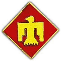 45TH DIV HAT PIN