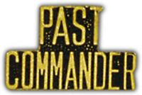 PAST COMMANDER HAT PIN - HATNPATCH