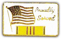 PROUDLY SERVED - VIETNAM HAT PIN - HATNPATCH