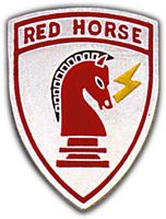 AF CIVIL ENGINEER - RED HORSE HAT PIN