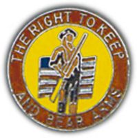 RIGHT TO KEEP & BEAR ARMS HAT PIN - HATNPATCH