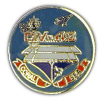 USS CORAL SEA HAT PIN