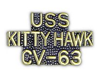 USS KITTY HAWK HAT PIN