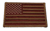 UNITED STATES US FLAG PATCH SUBDUED DESERT TAN PATRIOTIC STARS STRIPES - HATNPATCH