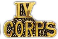 IV CORPS HAT PIN - HATNPATCH