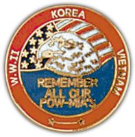 REMEMBER OUR POW/MIA HAT PIN