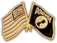 POW/MIA USA FLAG HAT PIN