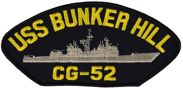 USS BUNKER HILL CG-52 SHIP PATCH - GREAT COLOR - Veteran Owned Business