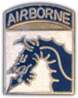 18TH AIRBORNE BLUE DRAGON HAT PIN