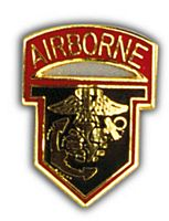 AIRBORNE MARINE HAT PIN - HATNPATCH