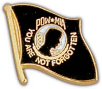 POW/MIA FLAG HAT PIN - HATNPATCH