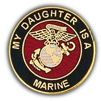 MY DAUGHTER IS A MARINE HAT PIN - HATNPATCH